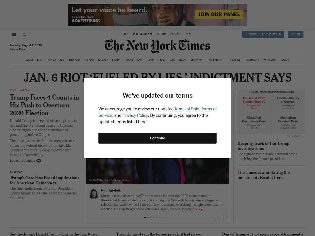 Breaking News, World News & Multimedia - The New York Times