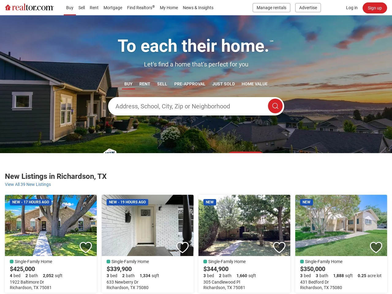 Find Real Estate, Homes for Sale, Apartments & Houses for Rent | realtor.com®